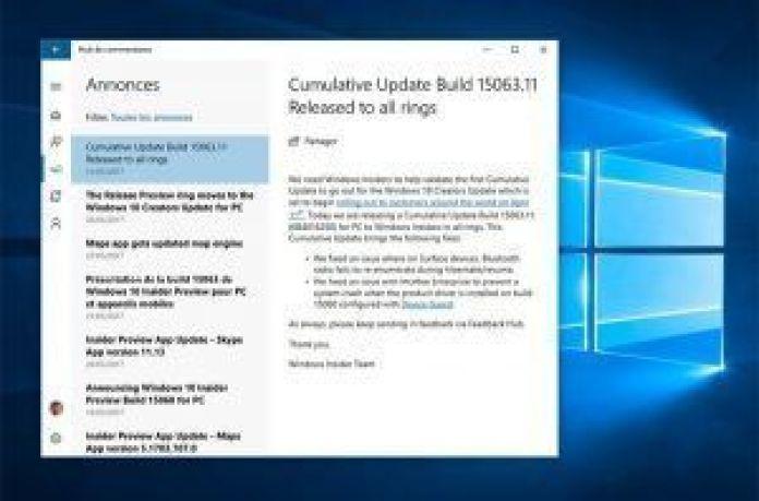 Windows 10 Creators Update 11 abril