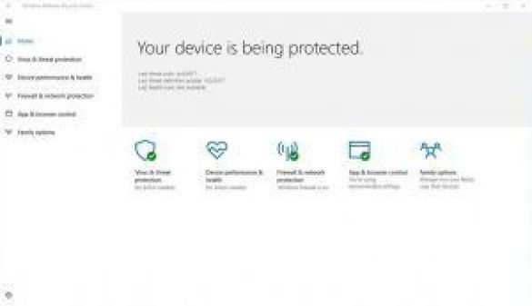 windows defender security center windows 10