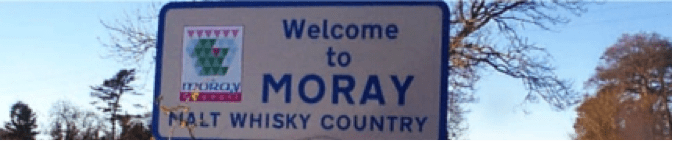 Welcome to Moray sign