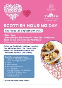 Scottish Housing Day Poster