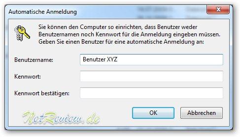 Windows 7 Benutzeranmeldung