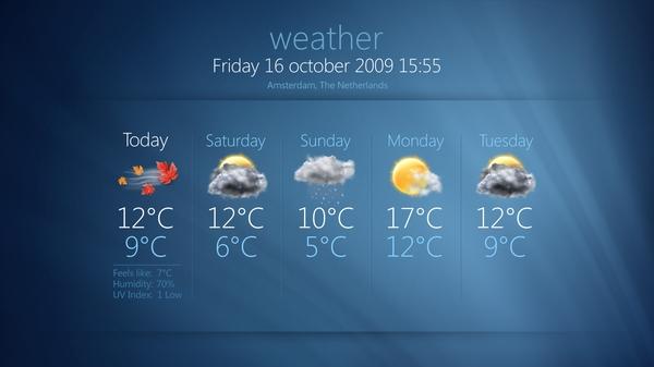 MediaPortal Wetter