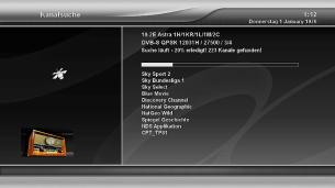 Xtrend ET9500 Sendersuche läuft