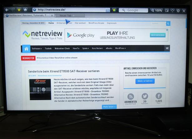 Samsung UExxF6470 Web Browser