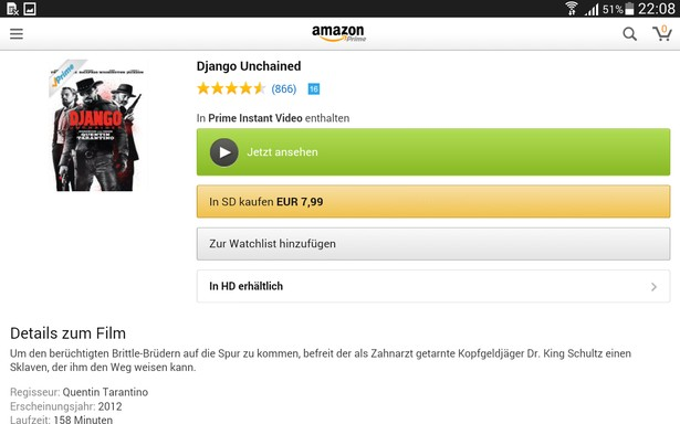 Amazon Instant Video Tablet Ansehen