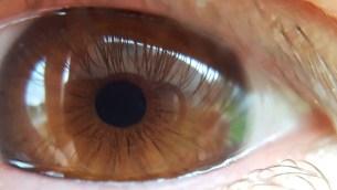 Auge mit Super-Makro-Objektiv