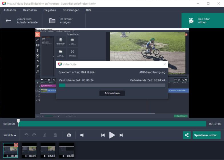 Movavi Video Suite 18 - Bildschirmaufnahme