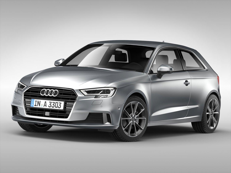 Audi A3 2017 3D Model in Compact Cars 3DExport