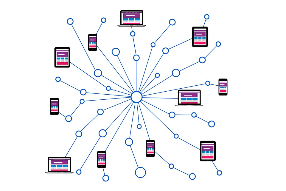Illustration of network with attached devices