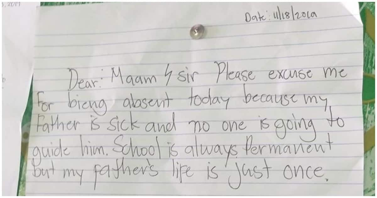 Excuse Letter For Absent In School Tagalog - Letter