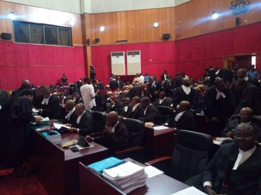 Drama at presidential election tribunal as Atiku, PDP present 2 result sheets for Yobe LG, say both were given by INEC