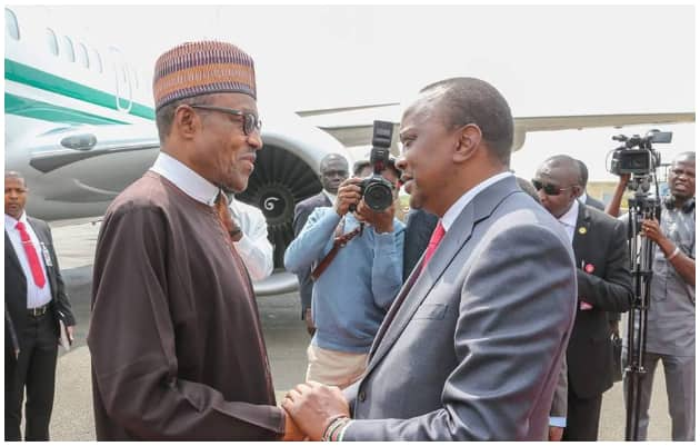 Image result for Your victory shows Nigerians trust you, Kenyan president tells Buhari