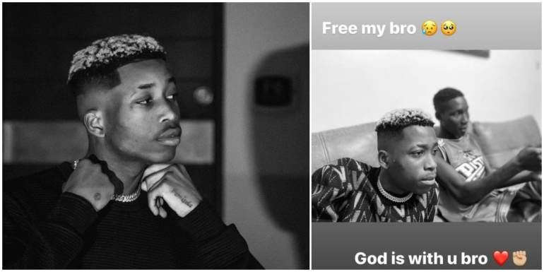 Free my bro! Zinoleesky cries out as police detain Lil Frosh over domestic violence case