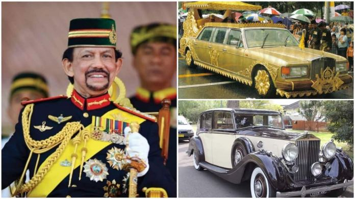 A collage of the Sultan and the some of his car collections. Photo source: Camudi