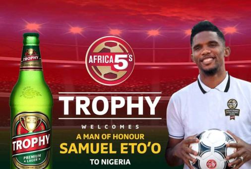 Image result for etoo in nigeria for Castle Africa 5s