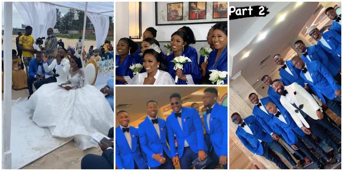 Photos, Videos from Comedian Arole's Beachside White Wedding Ceremony, Celebrity Groomsmen Look Hot