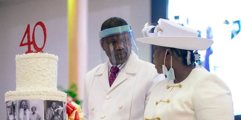 Pastor Adeboye sends social media into frenzy as he hypes his wife