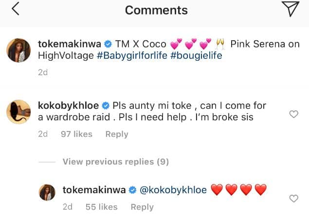 Khloe begs Toke Makinwa for clothes days after slamming people who will beg her for anything in 2020