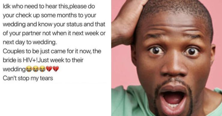 Image result for Nigerian Bride Finds Out She Is HIV Positive, One Week To Wedding  HEART BREAKING! HOW BEAUTIFUL NIGERIAN BRIDE FINDS OUT SHE IS HIV POSITIVE, ONE WEEK TO WEDDING 90f2a84bb841bdf8
