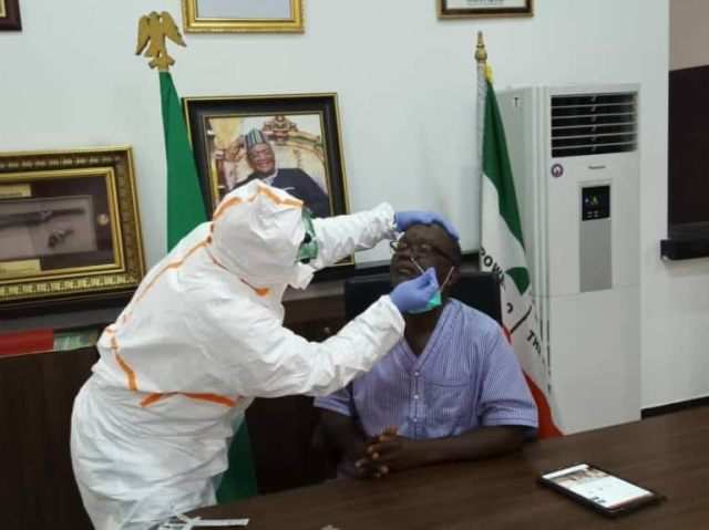 COVID-19: Governor Ortom of Benue tests negative for global pandemic