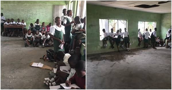 Corps member cries out over the poor situation of things at a school in Delta state
