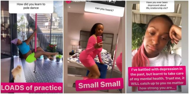 I can pole dance, twerk a little and have battled depression in the past, DJ Cuppy reveals in Q&A session