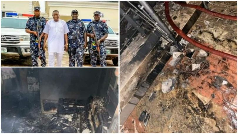 Police says Sunday Igboho's house set ablaze by hoodlums