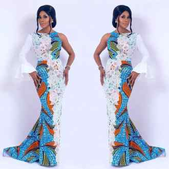 Lace and ankara dress