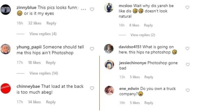 Fans drag actress Daniella Okeke for photoshopping her backside