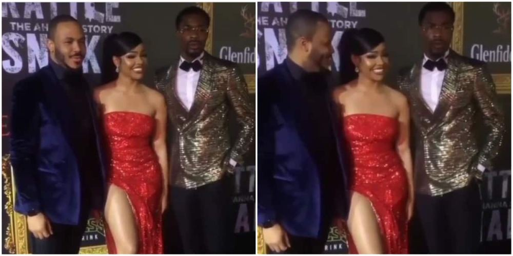 BBNaija's Nengi, Ozo and Neo spotted together at movie premiere (video)