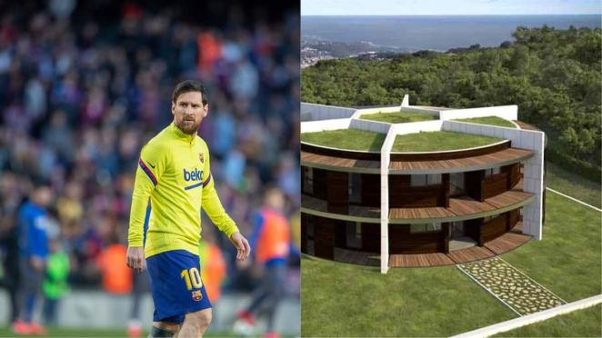 Image result for Inside Messi's Big Mansion with Football Pitch, Gym and Pool Where He Quarantines Himself