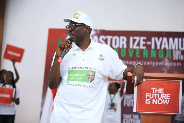 Edo election: Ize-Iyamu gets endorsed by Edo Christian leaders