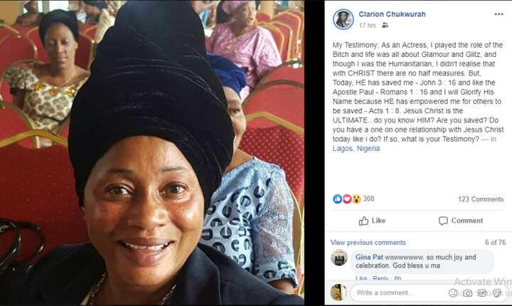 Nollywood actress Clarion Chukwura becomes born again