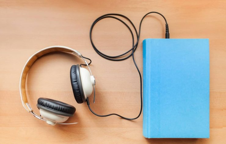 audiobook and headphones