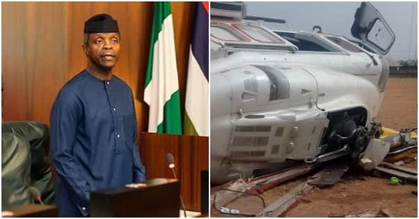 Accident Investigation bureau reveals why Osinbajo's helicopter crashed