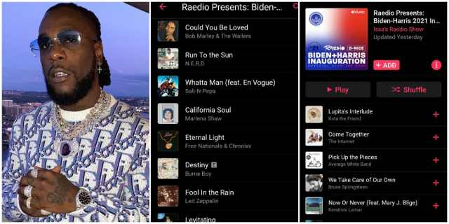 Burna Boy's song featured in Biden, Harris inauguration playlist | Legit.ng