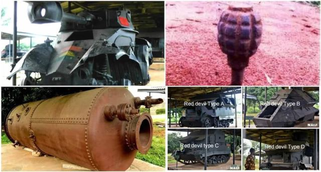 Image result for weapons created by biafrans