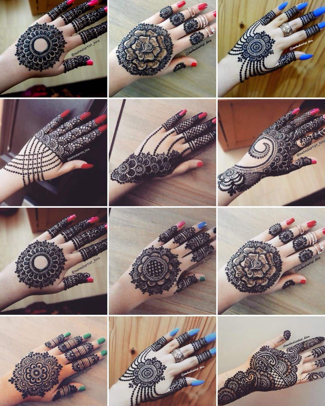 30 Simple Mehndi Designs For Hands Step By Step Images