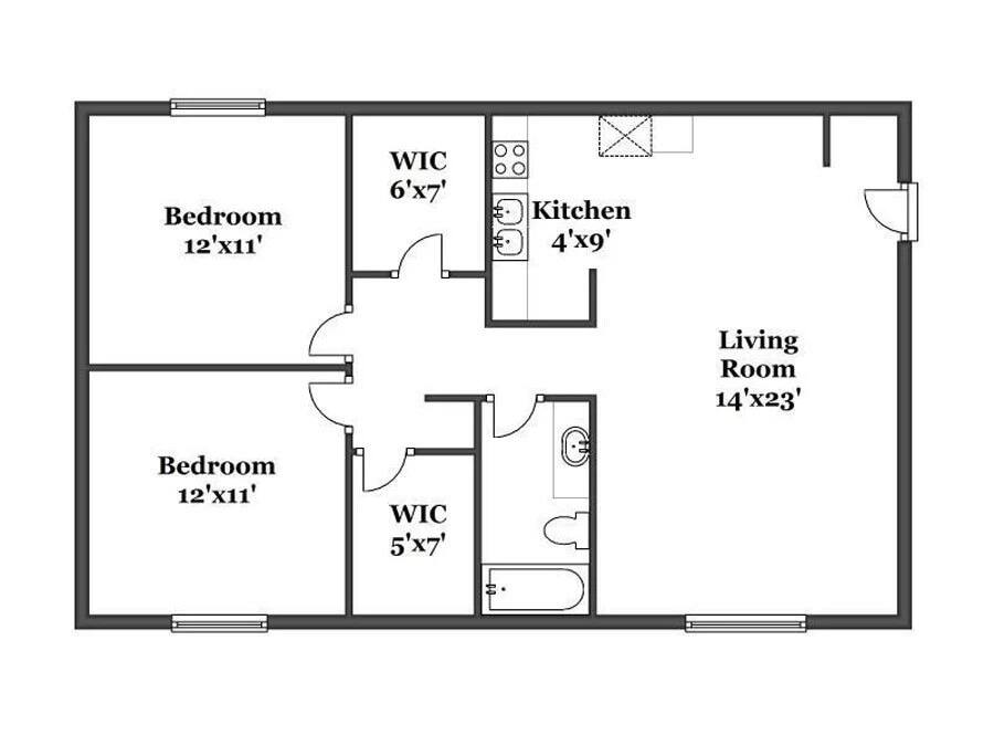Simple two bedroom house plans in Kenya Tuko.co.ke