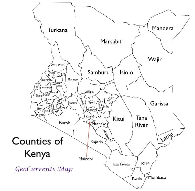 Most populated counties in Kenya according to 2019 census