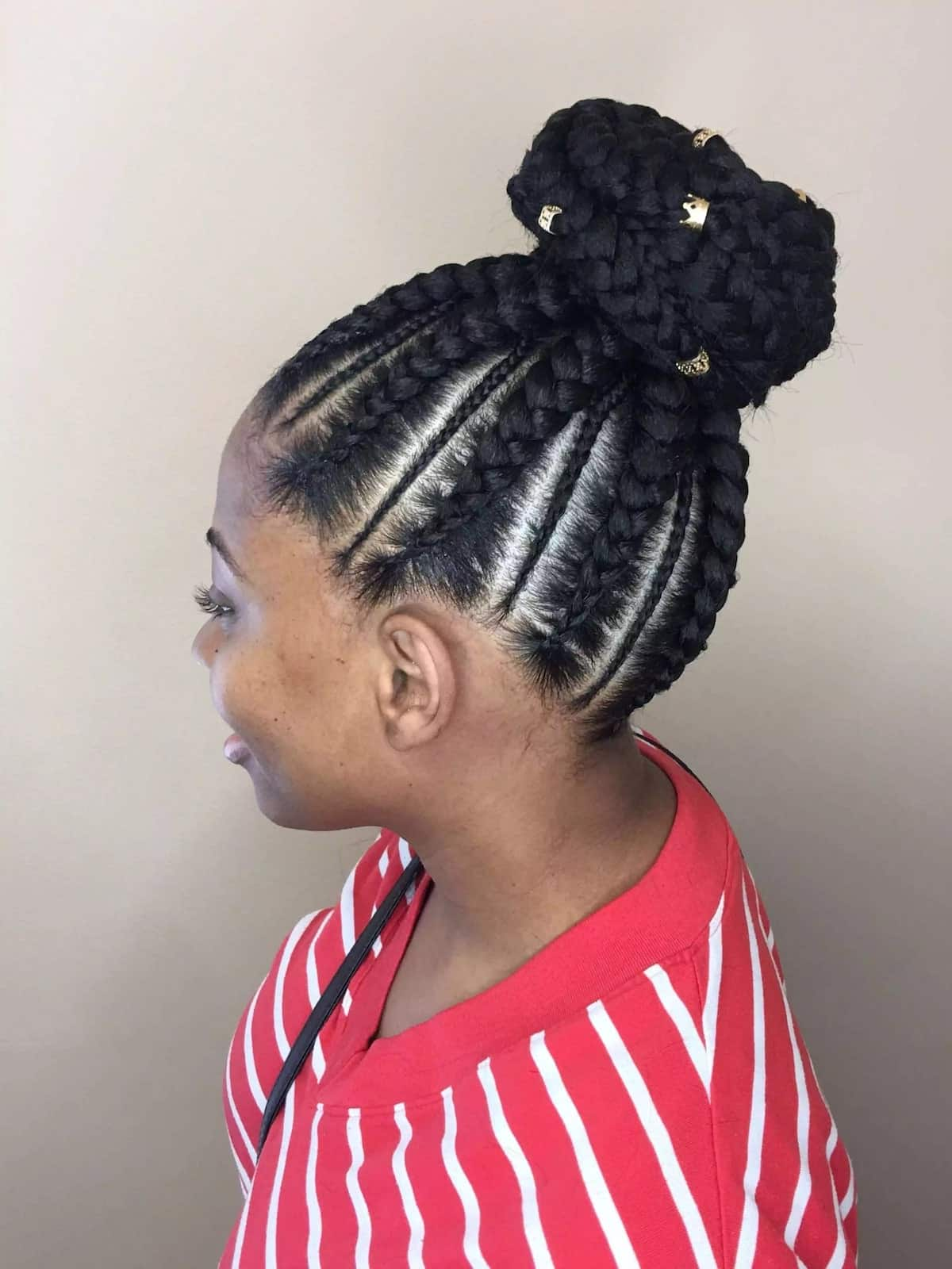 20 Best Cornrow Braid Hairstyles For Black Women With An Updo