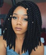 trendy short box braids styles