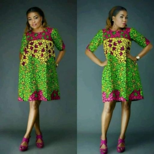 Latest Ankara styles for weddings -short gowns