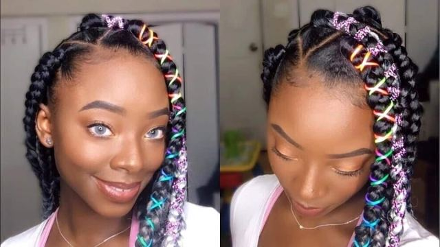 latest trending jumbo box braids hairstyles 2019-with pictures