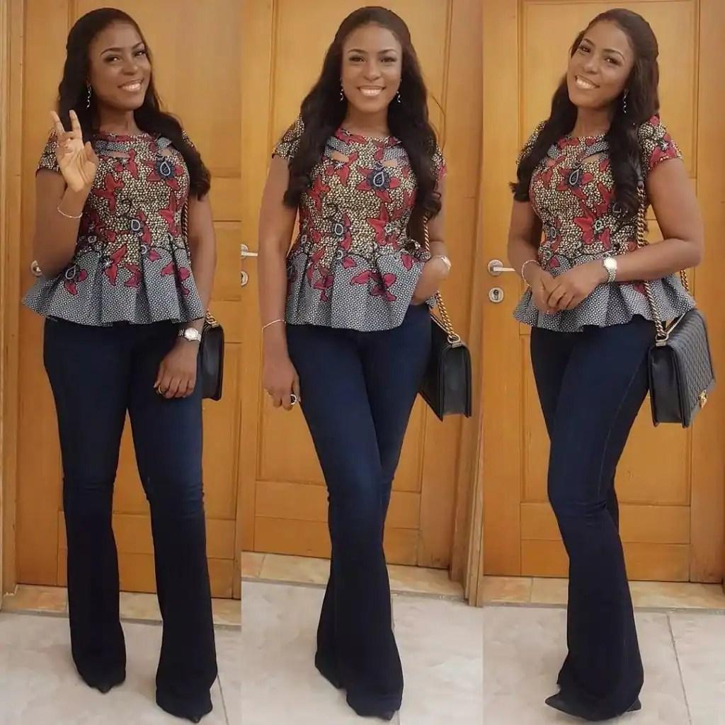 Ankara blouse styles for ladies in Nigeria