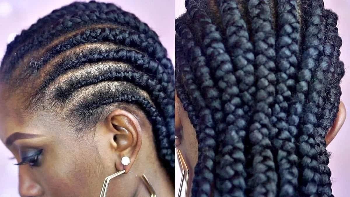 Simple cornrow braid hairstyles for natural hair Tuko.co.ke