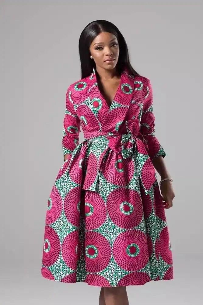 Modern African print dresses 2018 Tuko.co.ke