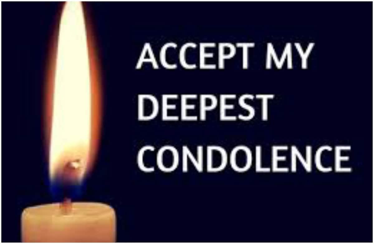 condolence messages for loss