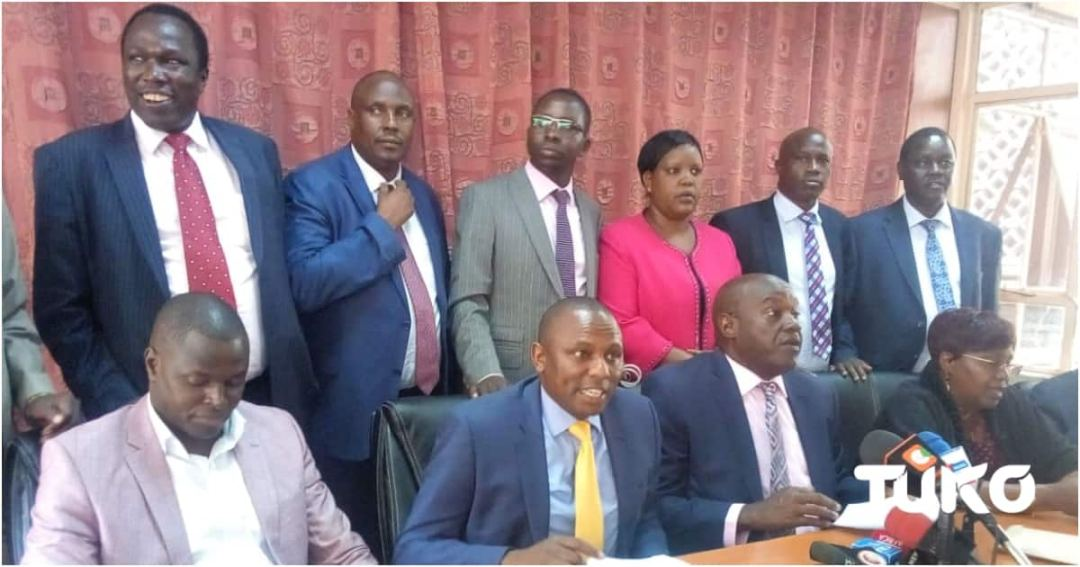 Image result for kimani ichungwa presser at parliament