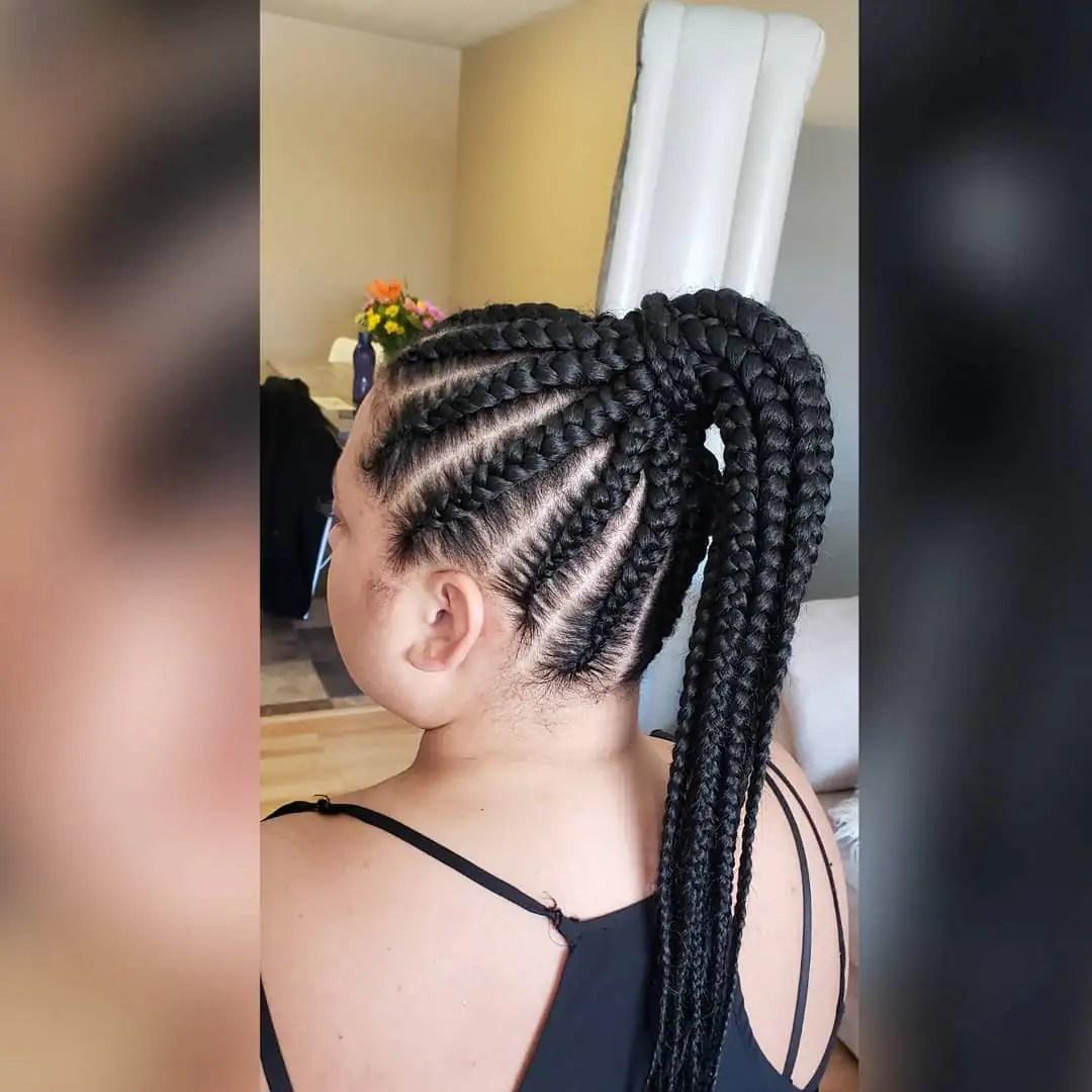 25 Latest Ghana Weaving Shuku Hairstyles In 2020 Tuko Co Ke